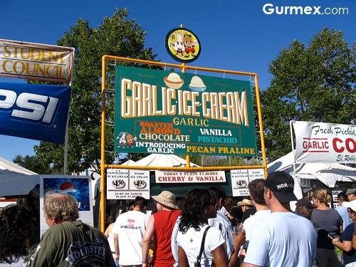Gurmelere festivaller,gilroy-sarimsak-festivali-amerika-abd-sarimsakli-dondurma