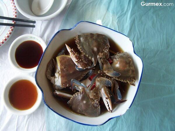 Çin Yeme İçme yemek kültürü çiğ yengeç