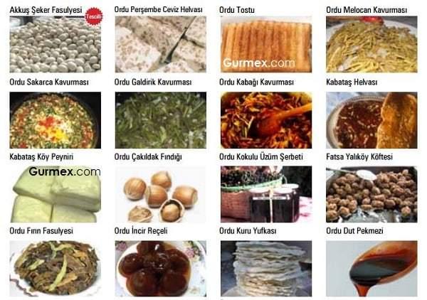 Ordu mutfağı, Ordu yemekleri nelerdir