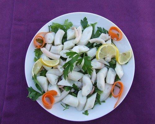 Ahtapot salata,Çanakkale yemekleri, Çanakkale mutfağı yöresel