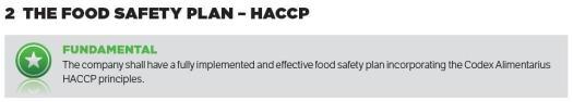 BRC Food Fundamental Requirements BRC Gıda Temel Gereklilikler