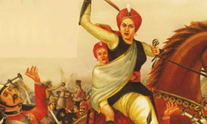 jhansi ki rani lakshmibai escape from jhansi with son 300x180