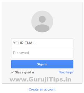 Login to gmail