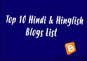 top hindi blogs list