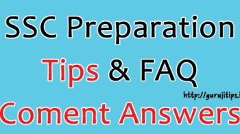 SSC Preparation Tips