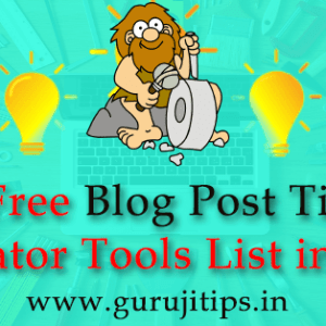 Blog Post title generator