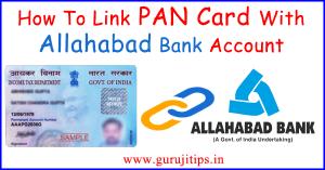 Link PAN to Allahabad Bank