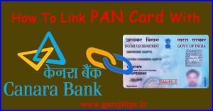 link pan with canara bank