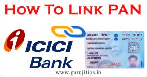 link pan with icici bank