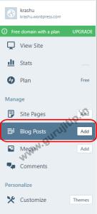 blog post in wordpress