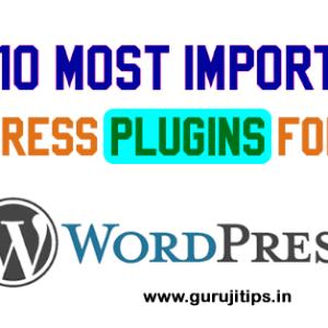 important wordpress plugin