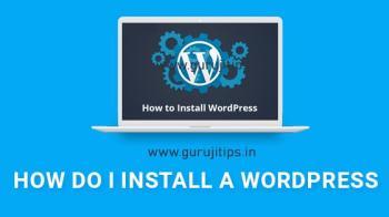 wordpress installation tutorial in hindi