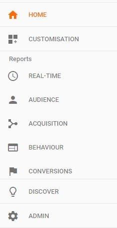 google analytic option