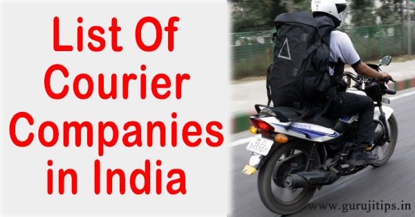 indian courier company list
