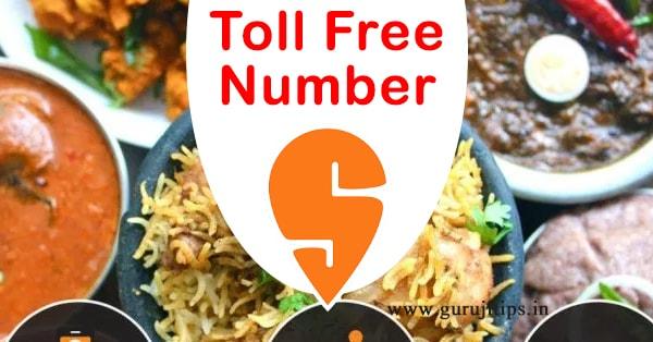 swiggy toll free number