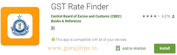 gst rate finder app