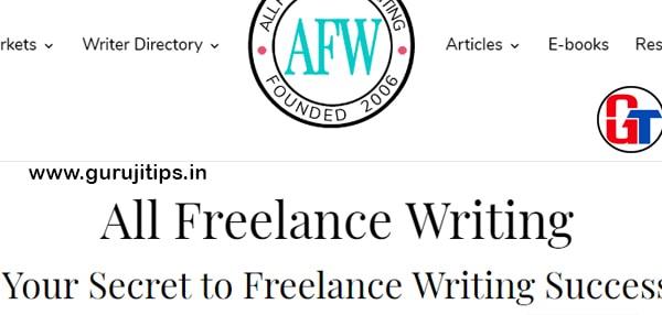 all freelance writing jobs