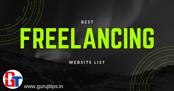 best freelancing website list