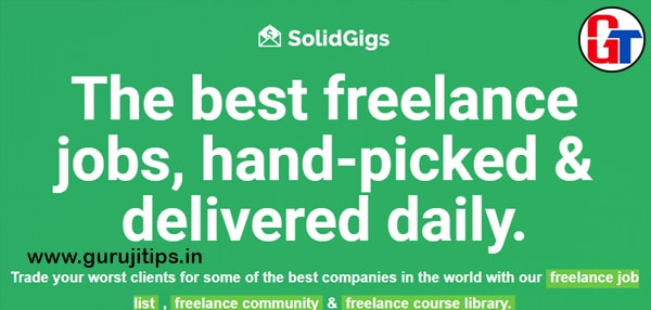 solid gigs freelancing site