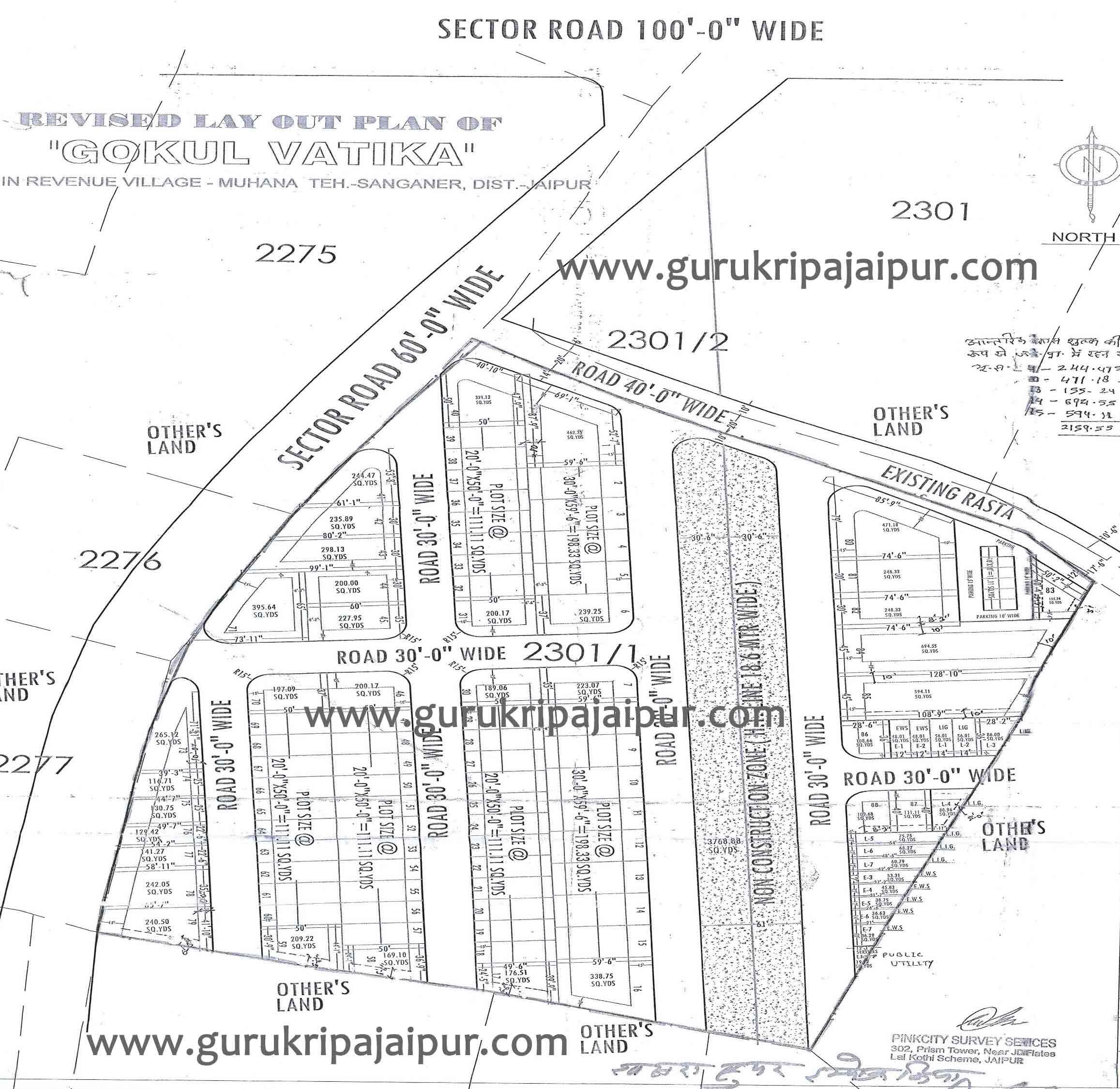 Gokul Vatika Muhana Jaipur Jda Approved Plots for Sale Near Mansarovar
