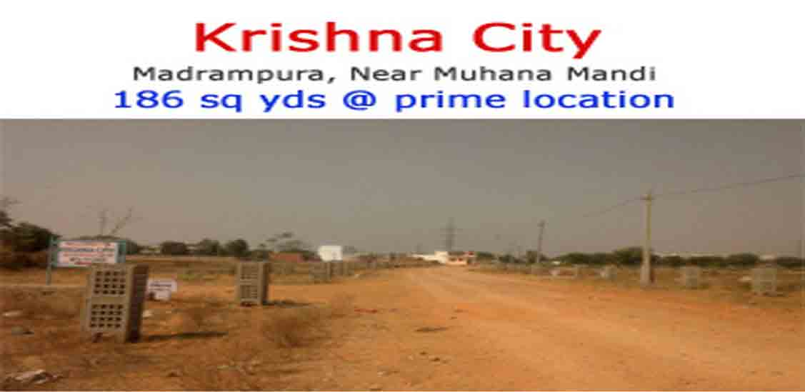 Jda Approved Residential Plots for Sale in Krishna City near Sanganer