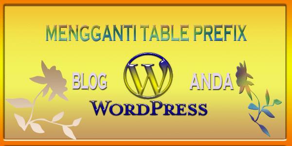 mengganti table prefix