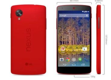 Nexus 5 versión rojo según Google