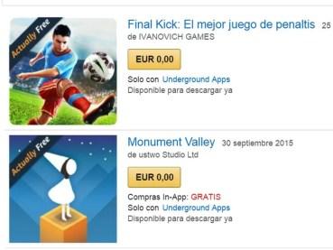 Amazon Underground llega a España con cientos de apps gratuitas