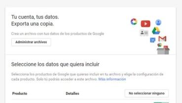 Cómo hacer una copia de seguridad de tus archivos de Google con Google Takeout