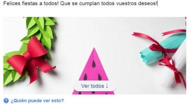 Felicita la Navidad con las originales postales de Facebook