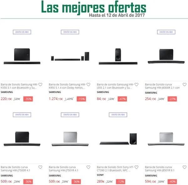 barras de sonido oferta