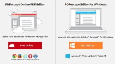Modifica archivos PDF de forma gratuita con PDFescape