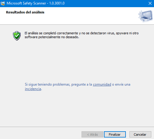 microsoft safety scanner resultado