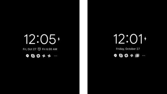 android 8.1 pantalla ambiental