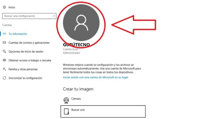 cambiar usuario windows 10