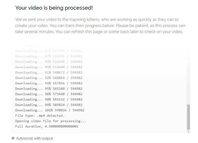 kapwing-procesando