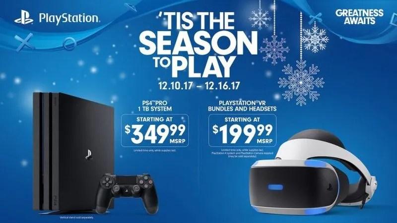 Sony baja el precio de PS4 Pro y el PS VR para Navidad en U.S.