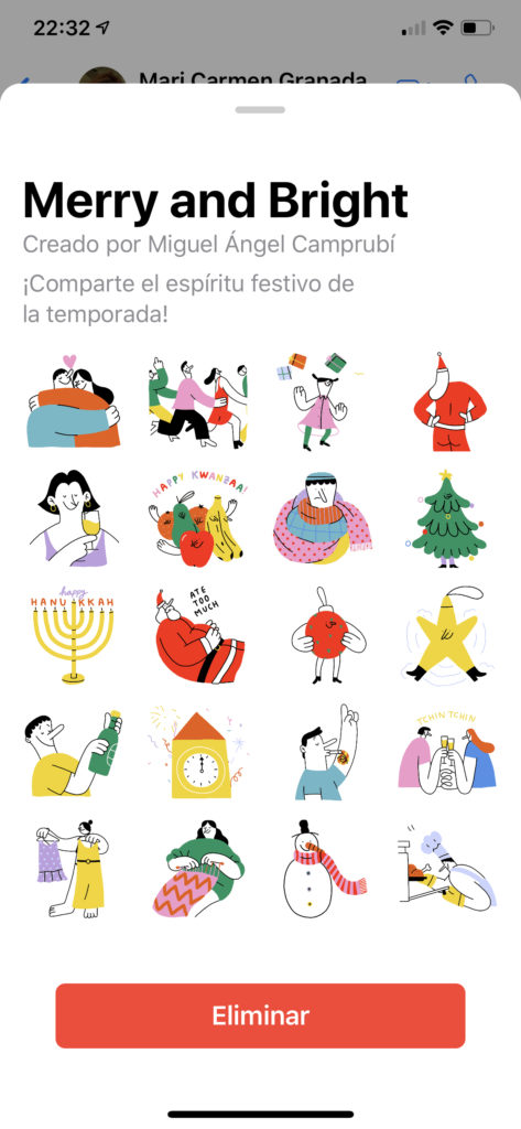 WhatsApp stickers Navidad