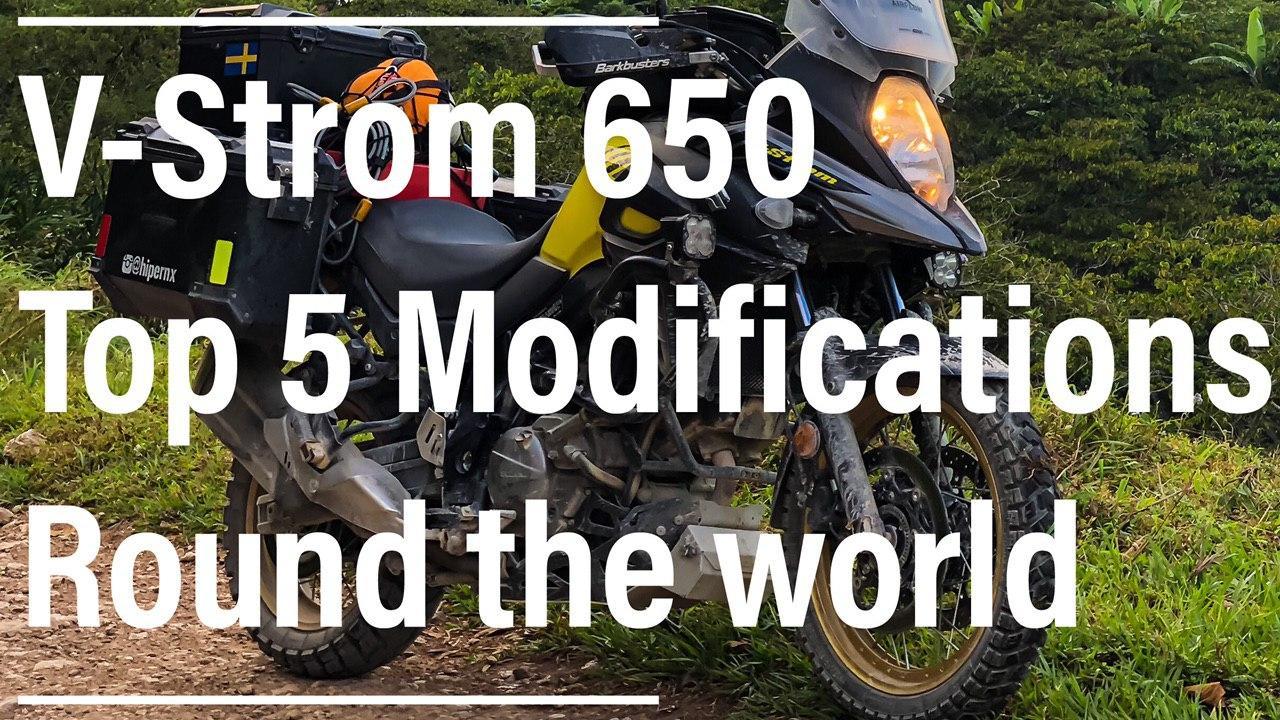V-Strom 650 modifications for travel