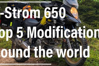 V-Strom 650 modifications for travel