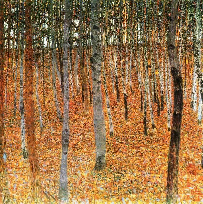 Gustav Klimt / Birch Trees