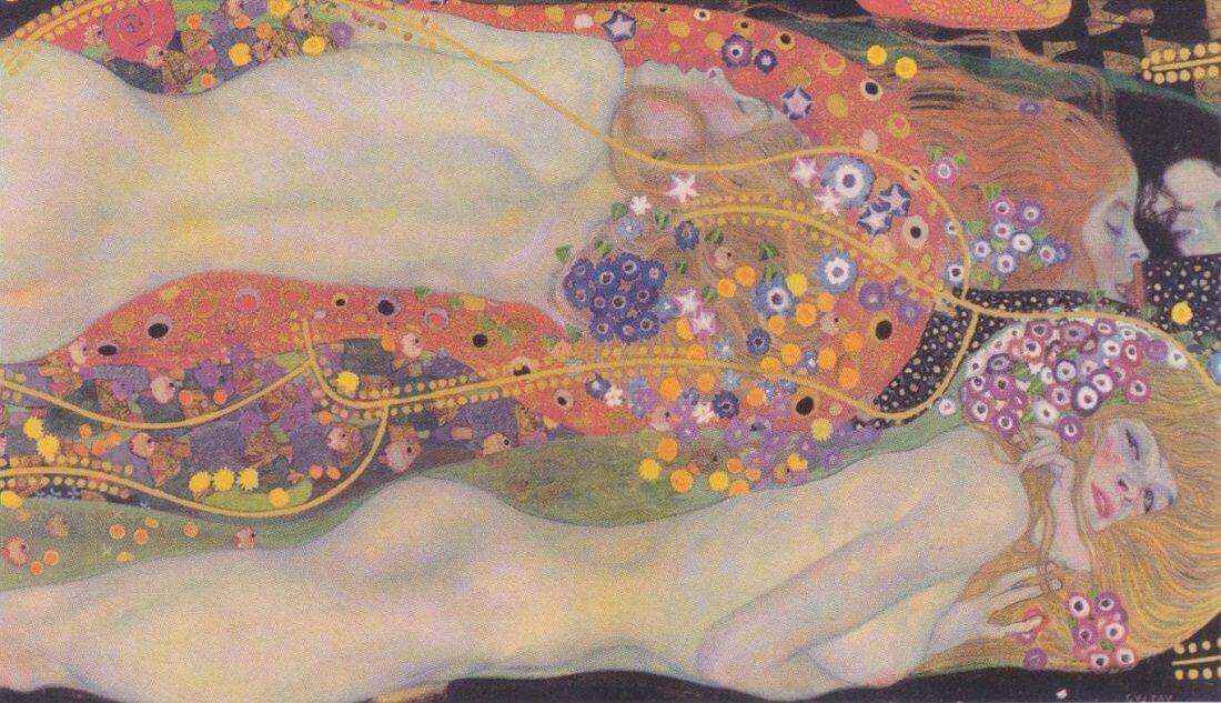 Image result for water serpents klimt
