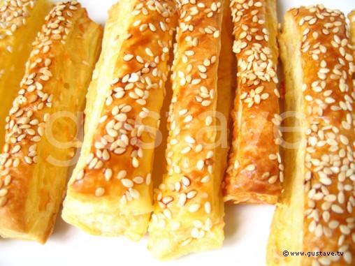 feuilletes au fromage et au sesame