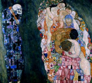Image result for gustav klimt death and life painting