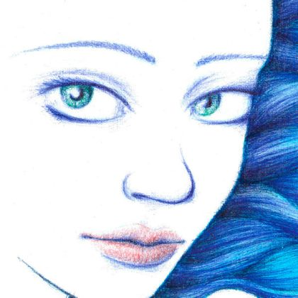 Dibujo: Aura, torrente, susurro (detalle) | por Gustavo A. Díaz G.