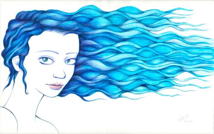 Dibujo: Aura, torrente, susurro | por Gustavo A. Díaz G.