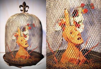 Escultura: Causalidad y Jaula (fondo blanco, detalle 02) | por Gustavo A. Díaz G.
