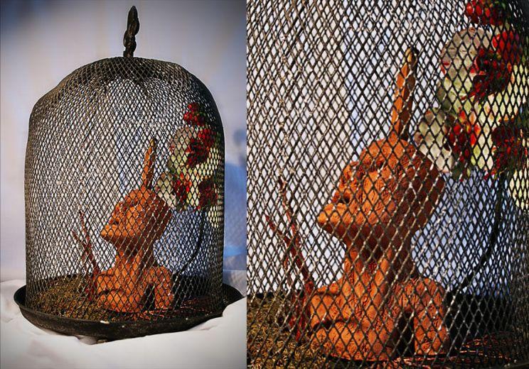 Escultura: Causalidad y Jaula (fondo blanco, detalle 01) | por Gustavo A. Díaz G.