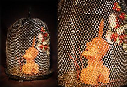 Escultura: Causalidad y Jaula (fondo negro, detalle 02) | por Gustavo A. Díaz G.