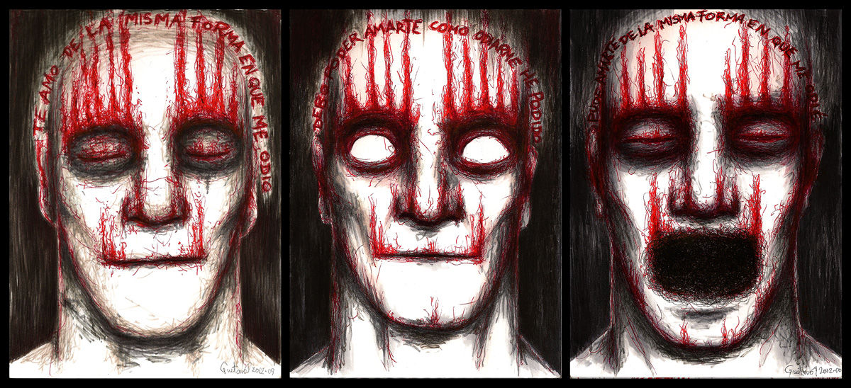 Dibujo: Dictamen 1, 2 y 3 (ensamble) | por Gustavo A. Díaz G.
